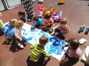 Outdoor painting fun
